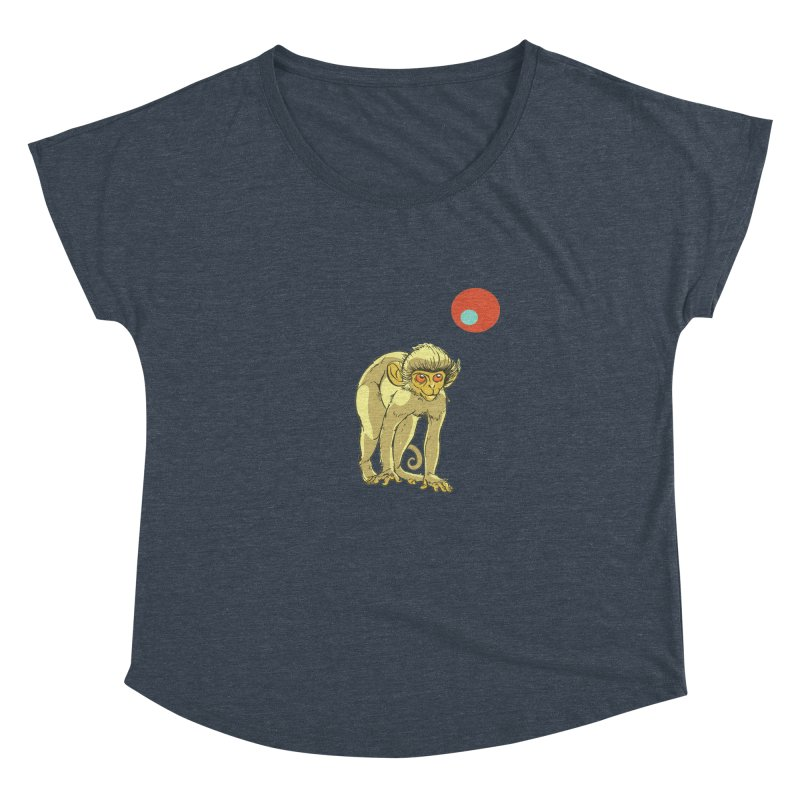 Monkey and Moon Women's Dolman Scoop Neck by CB Design