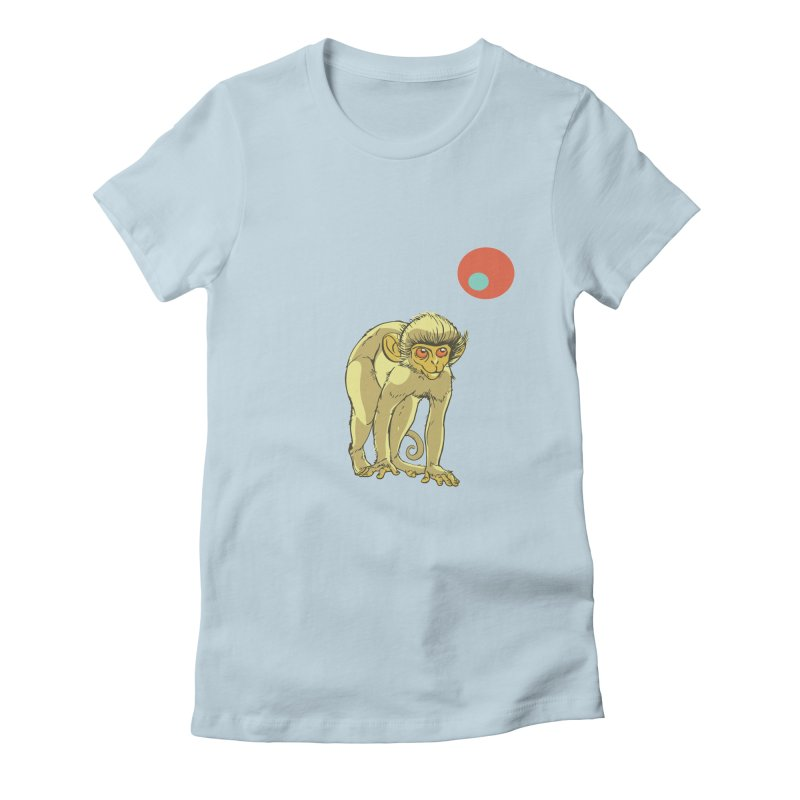 Monkey and Moon Women's T-Shirt by CB Design