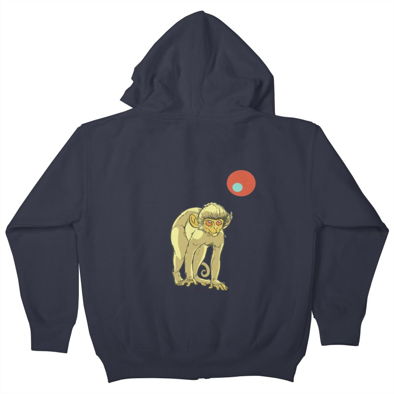 Monkey and Moon Kids Zip-Up Hoody by CB Design