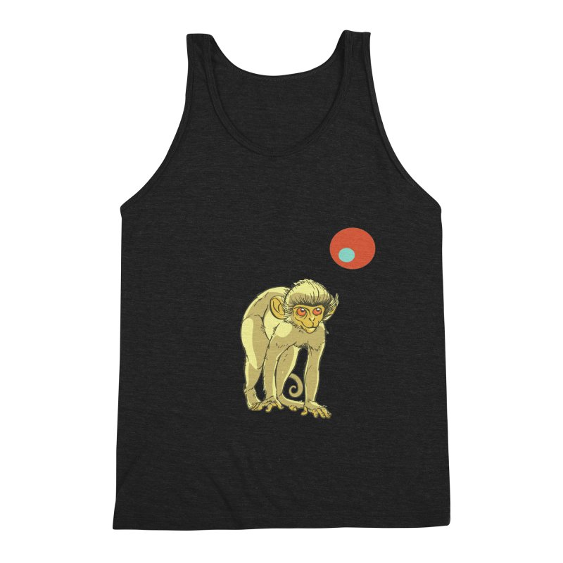 Monkey and Moon Men's Triblend Tank by CB Design