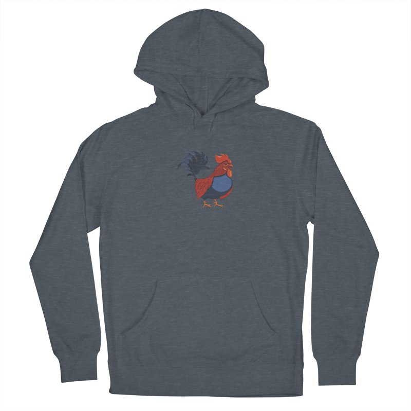 Rooster Women's French Terry Pullover Hoody by CB Design