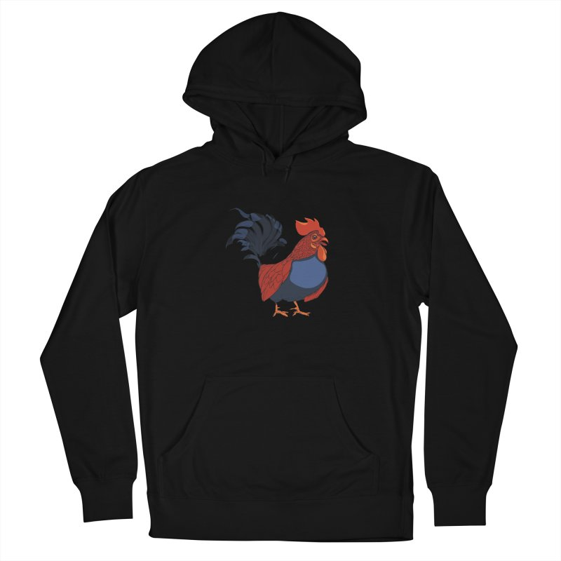 Rooster Men's French Terry Pullover Hoody by CB Design