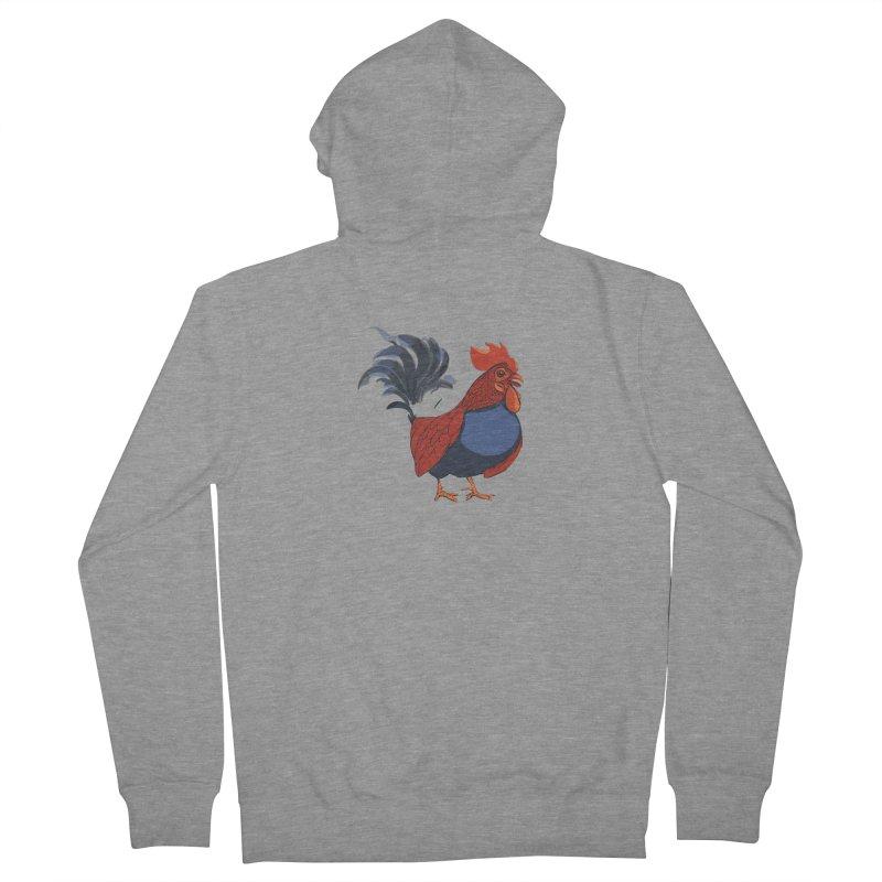 Rooster Women's Zip-Up Hoody by CB Design
