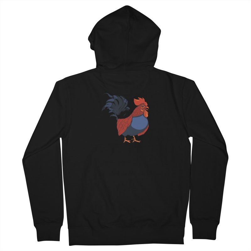 Rooster Men's French Terry Zip-Up Hoody by CB Design