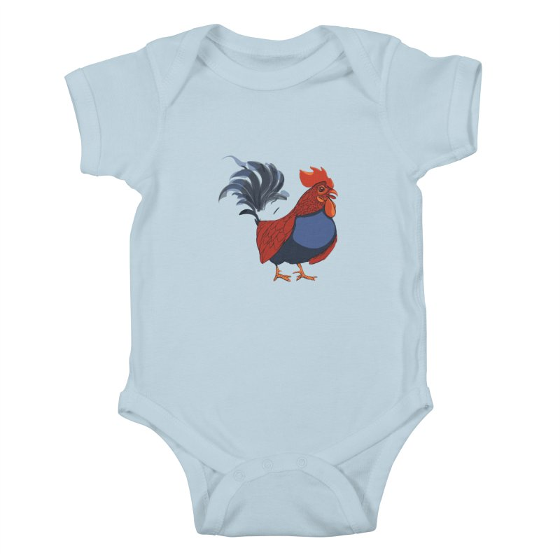 Rooster Kids Baby Bodysuit by CB Design