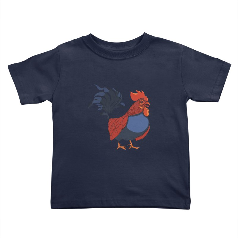 Rooster Kids Toddler T-Shirt by CB Design
