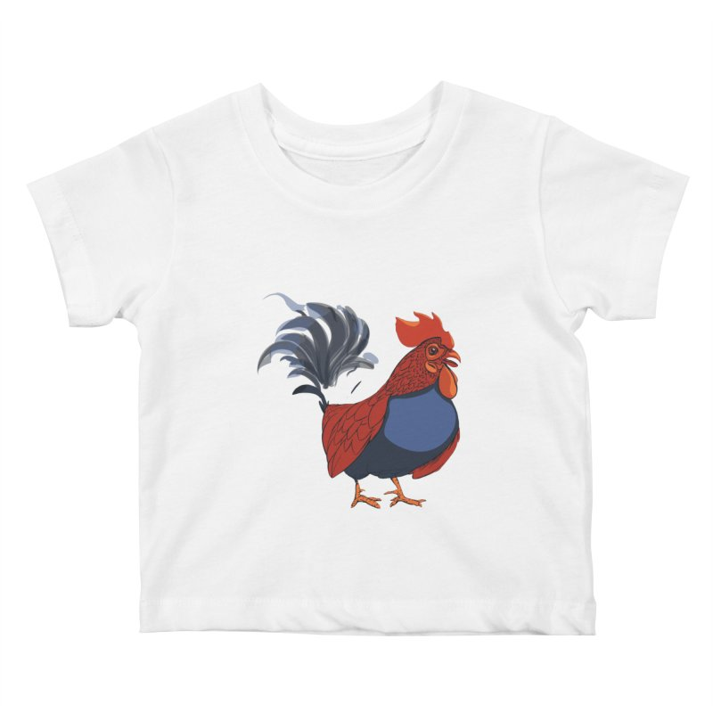 Rooster Kids Baby T-Shirt by CB Design