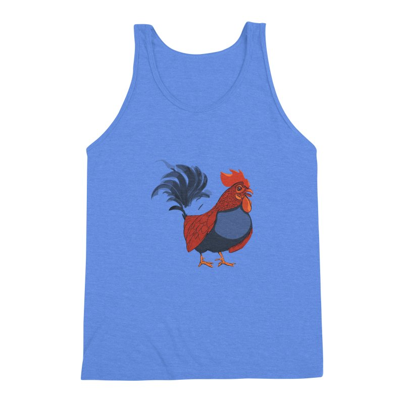 Rooster Men's Triblend Tank by CB Design