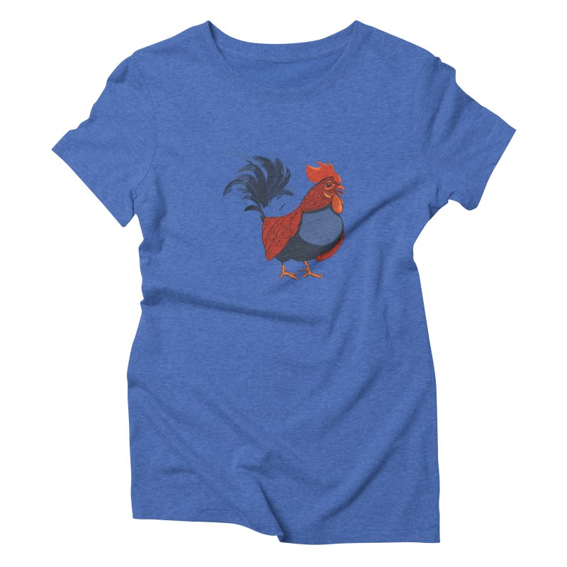 Rooster Women's Triblend T-shirt by CB Design