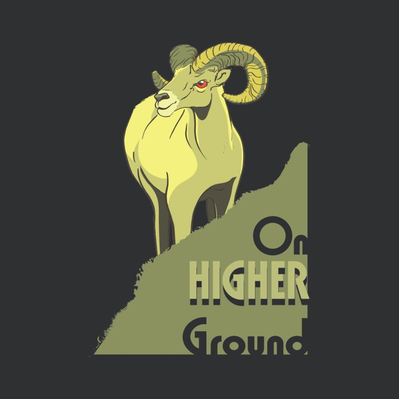 Sheep on Higher Ground Men's T-Shirt by CB Design