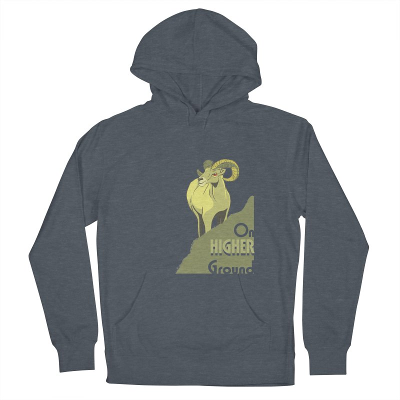 Sheep on Higher Ground Women's French Terry Pullover Hoody by CB Design