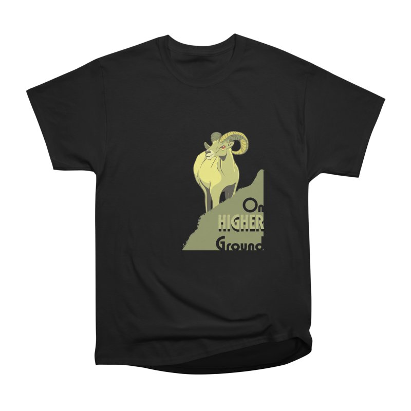 Sheep on Higher Ground Men's Heavyweight T-Shirt by CB Design