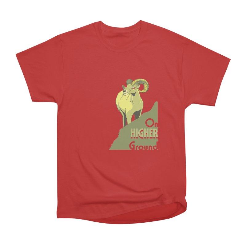 Sheep on Higher Ground Men's Heavyweight T-Shirt by CB Design