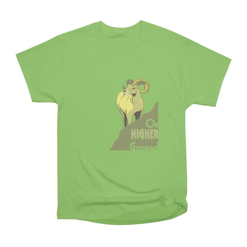 Sheep on Higher Ground Women's Heavyweight Unisex T-Shirt by CB Design