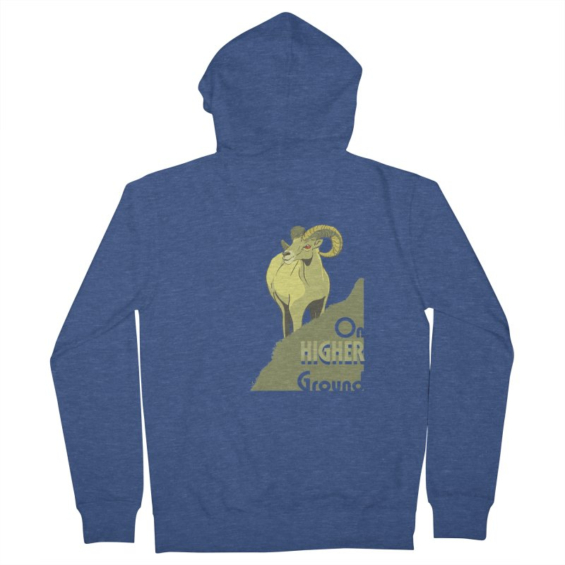 Sheep on Higher Ground Women's French Terry Zip-Up Hoody by CB Design