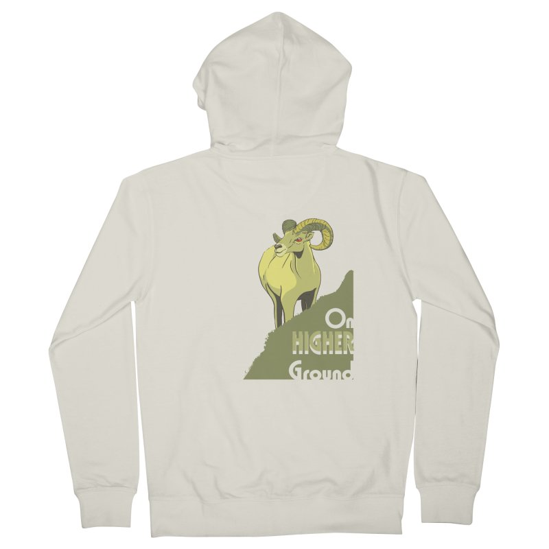 Sheep on Higher Ground Men's Zip-Up Hoody by CB Design