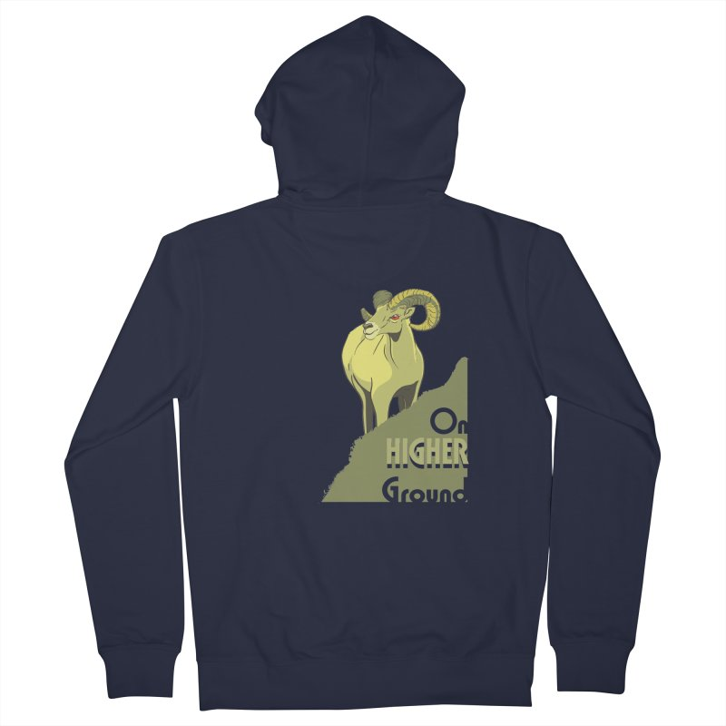 Sheep on Higher Ground Men's French Terry Zip-Up Hoody by CB Design