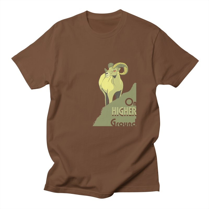 Sheep on Higher Ground Men's T-shirt by CB Design