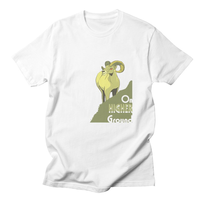 Sheep on Higher Ground Men's Regular T-Shirt by CB Design