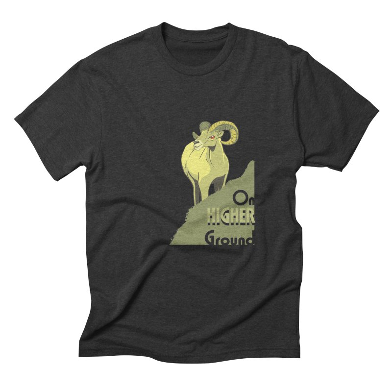Sheep on Higher Ground Men's Triblend T-Shirt by CB Design