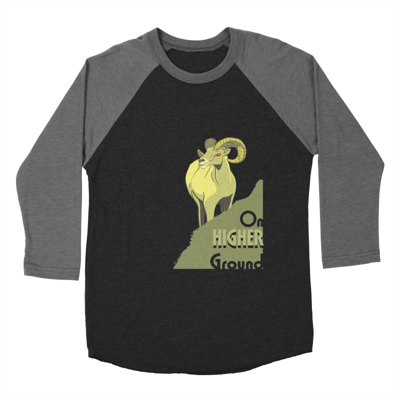Sheep on Higher Ground Men's Baseball Triblend T-Shirt by CB Design
