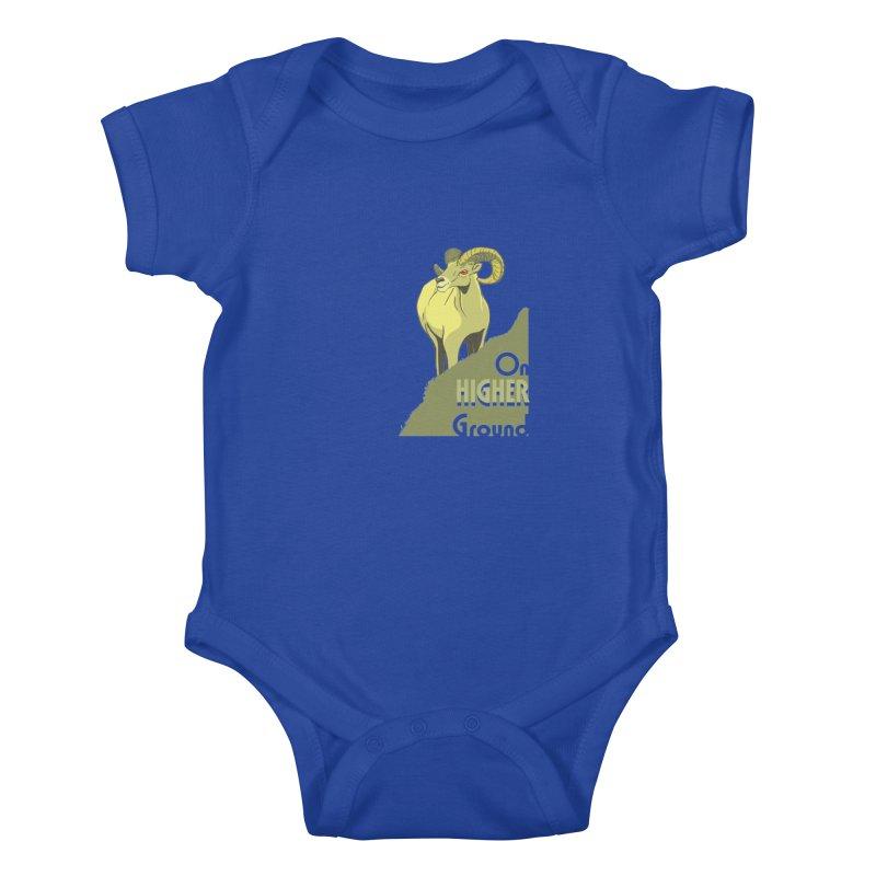 Sheep on Higher Ground Kids Baby Bodysuit by CB Design