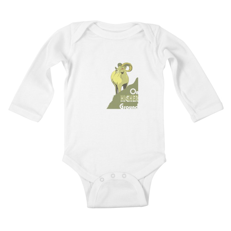 Sheep on Higher Ground Kids Baby Longsleeve Bodysuit by CB Design