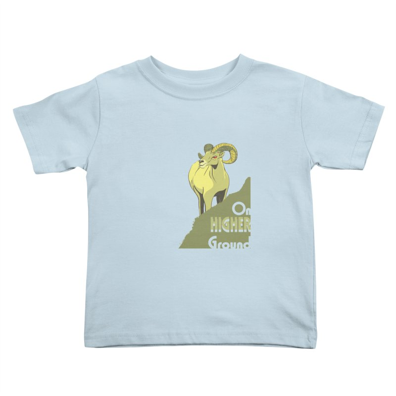 Sheep on Higher Ground Kids Toddler T-Shirt by CB Design