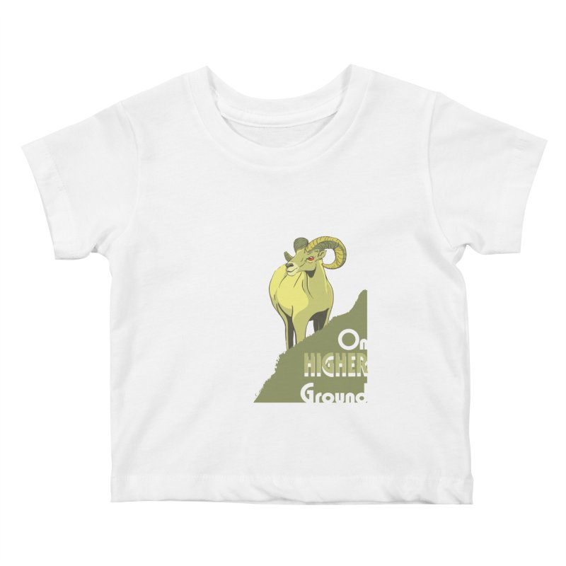 Sheep on Higher Ground Kids Baby T-Shirt by CB Design