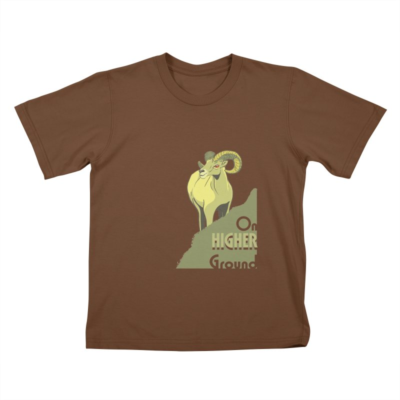 Sheep on Higher Ground Kids T-Shirt by CB Design