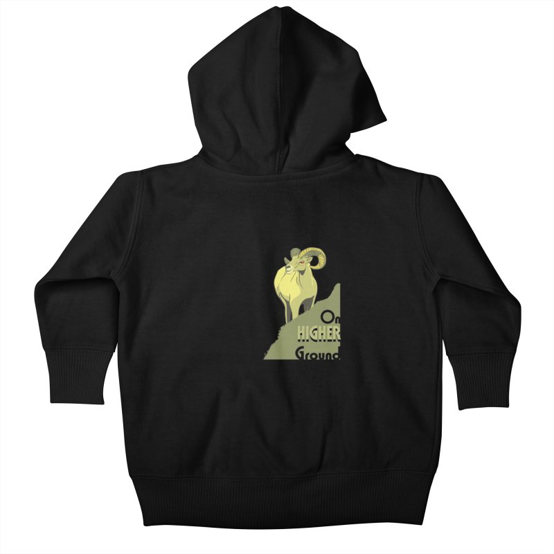 Sheep on Higher Ground Kids Baby Zip-Up Hoody by CB Design