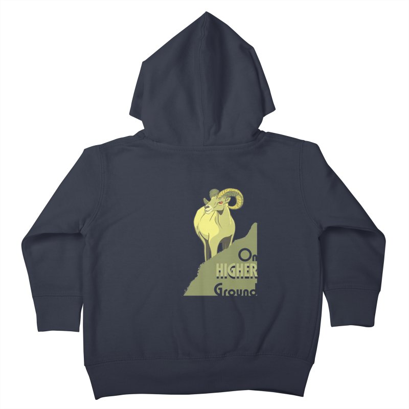 Sheep on Higher Ground Kids Toddler Zip-Up Hoody by CB Design