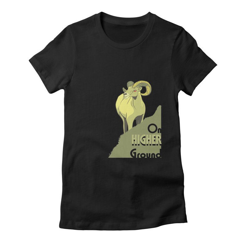 Sheep on Higher Ground Women's Fitted T-Shirt by CB Design