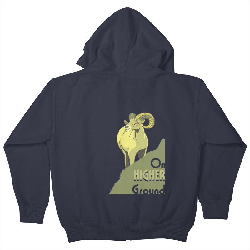 Sheep on Higher Ground Kids Zip-Up Hoody by CB Design