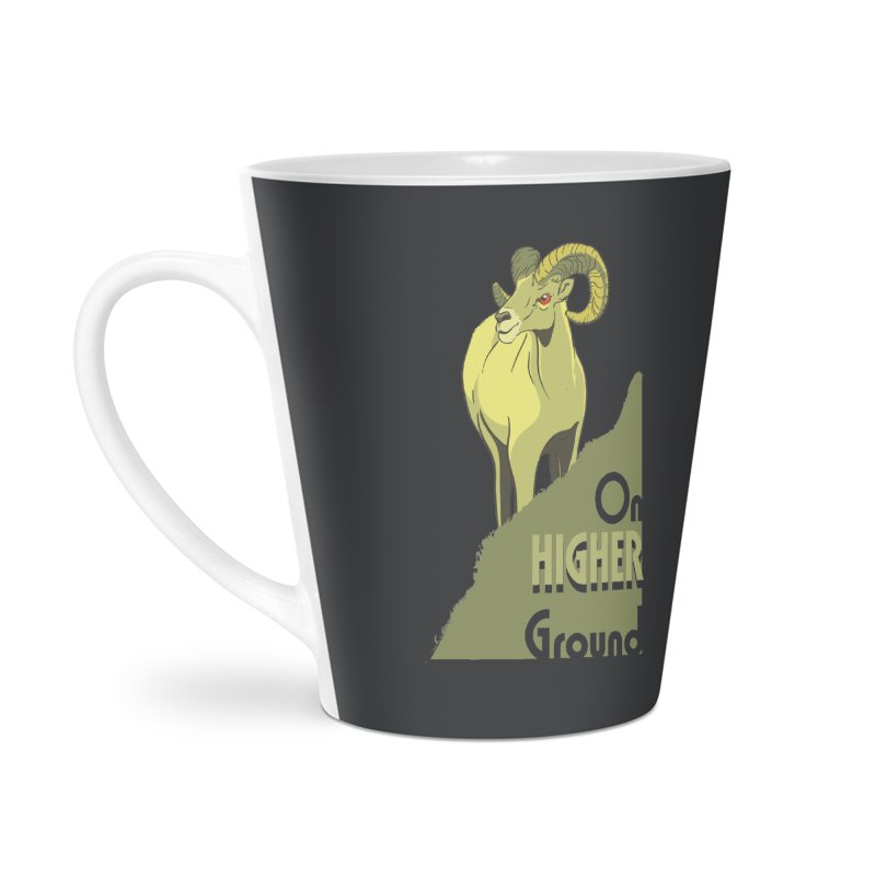 Sheep on Higher Ground Accessories Latte Mug by CB Design