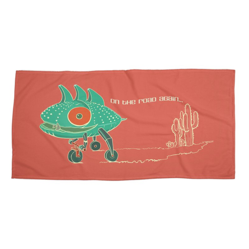 Trig: On The Road Again Accessories Beach Towel by CB Design