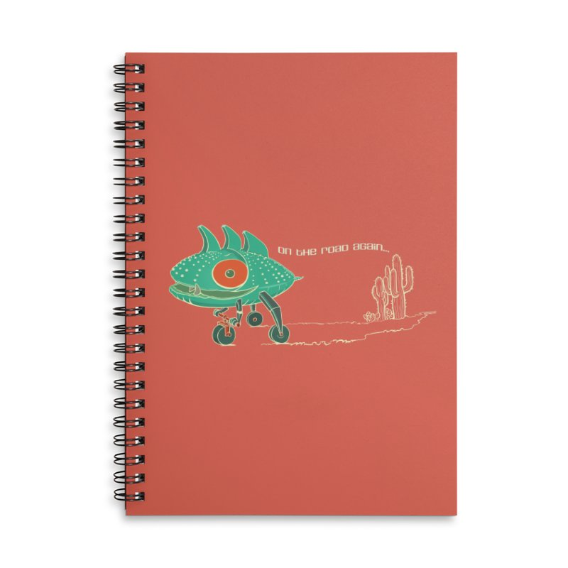 Trig: On The Road Again Accessories Lined Spiral Notebook by CB Design