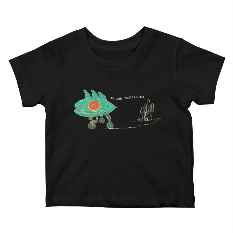 Trig: On The Road Again Kids Baby T-Shirt by CB Design