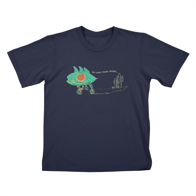 Trig: On The Road Again Kids T-Shirt by CB Design