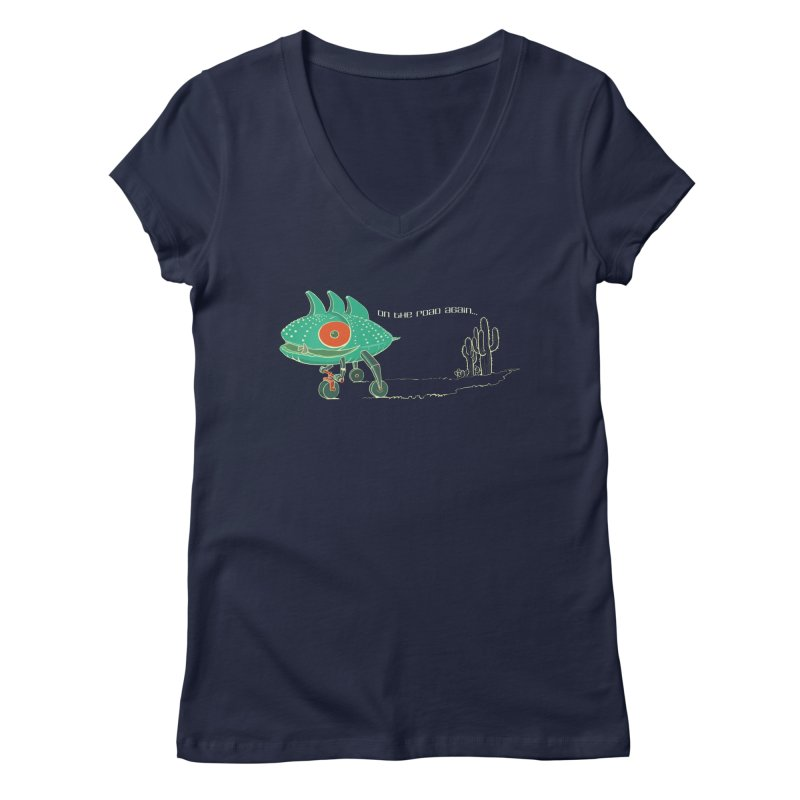 Trig: On The Road Again Women's V-Neck by CB Design