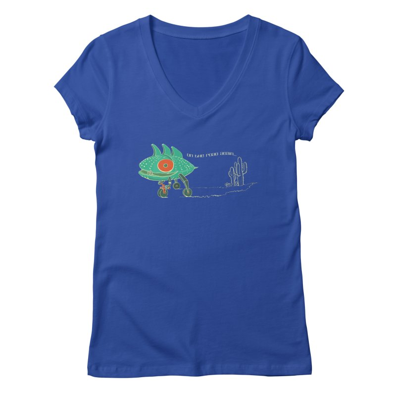 Trig: On The Road Again Women's Regular V-Neck by CB Design