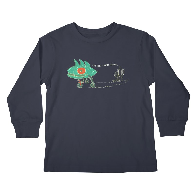 Trig: On The Road Again Kids Longsleeve T-Shirt by CB Design