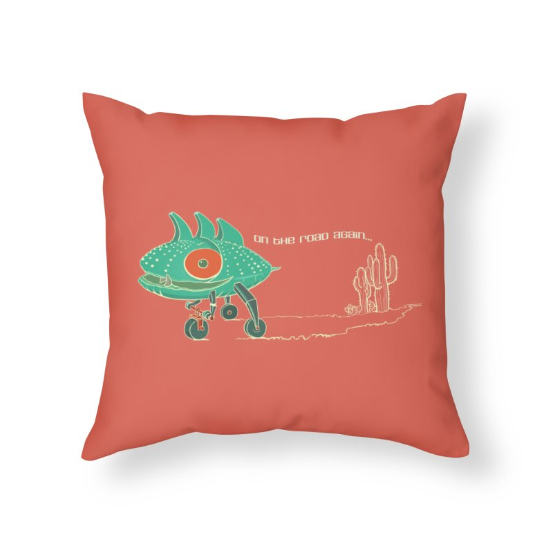 Trig: On The Road Again Home Throw Pillow by CB Design