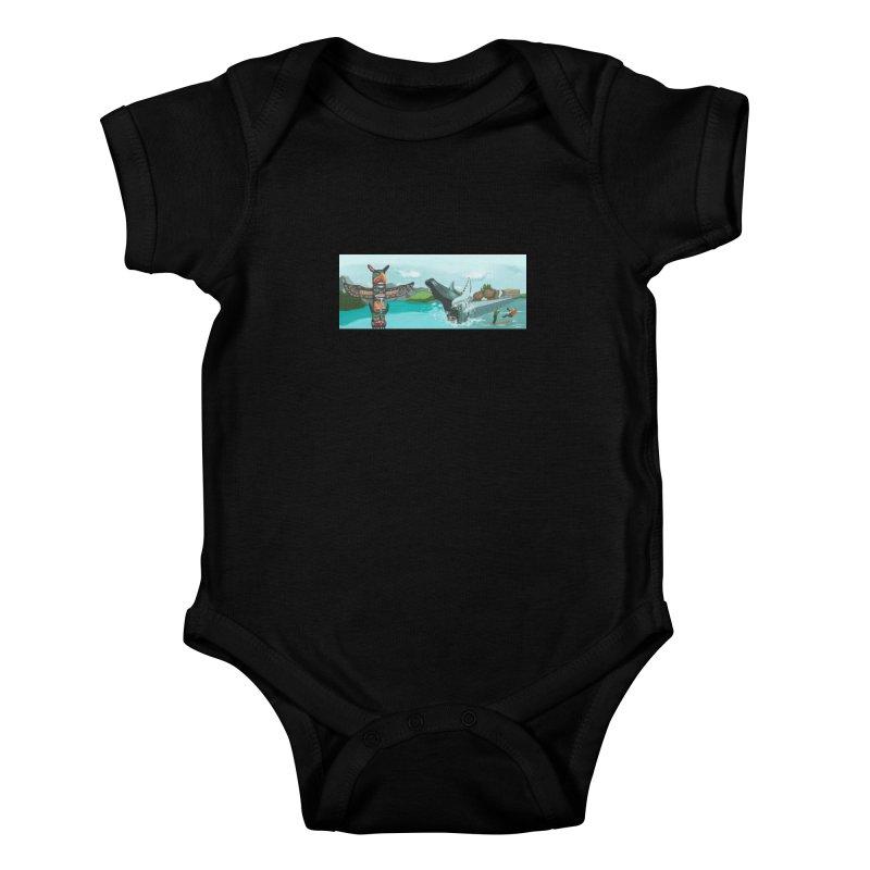 Canada's Landscape Kids Baby Bodysuit by CB Design