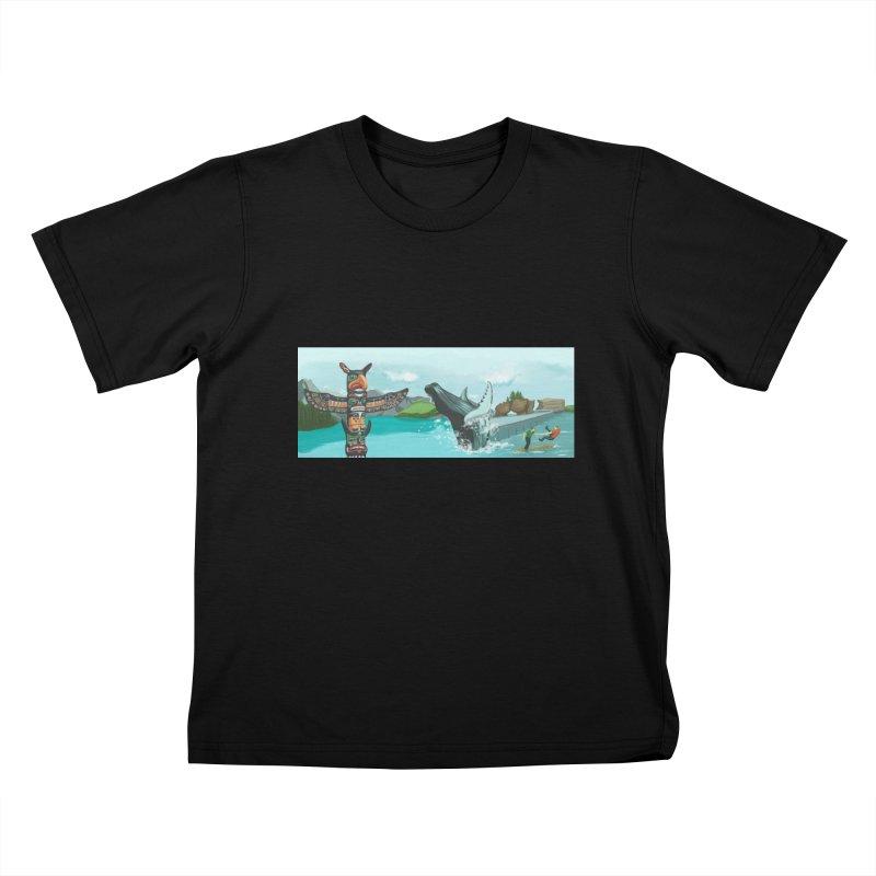 Canada's Landscape Kids T-Shirt by CB Design