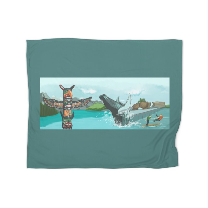 Canada's Landscape Home Fleece Blanket Blanket by CB Design