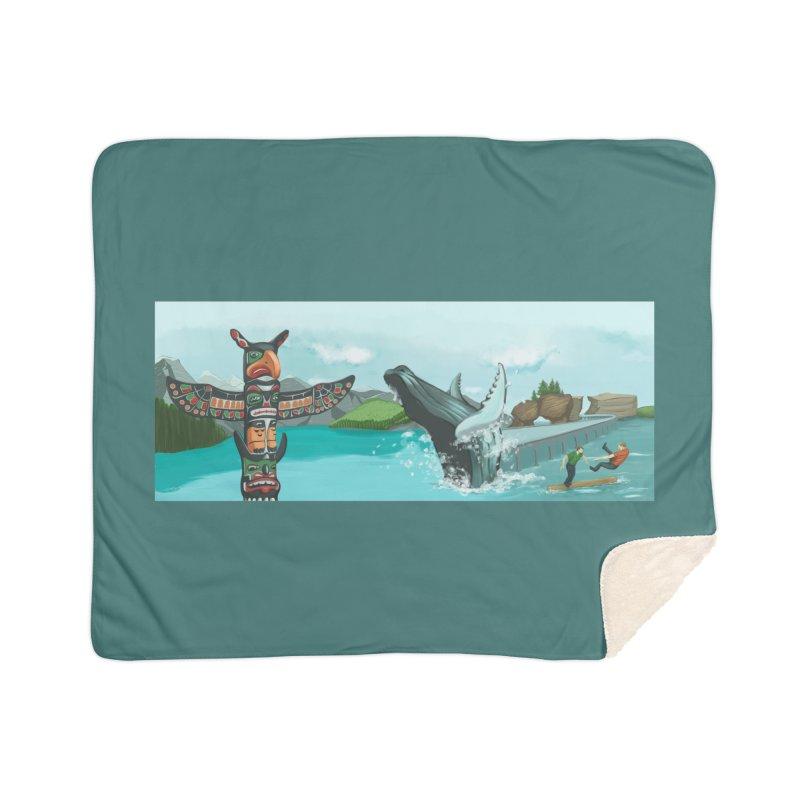 Canada's Landscape Home Sherpa Blanket Blanket by CB Design