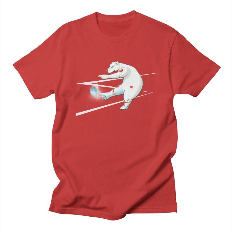 Soccer Bear Men's T-shirt by CB Design