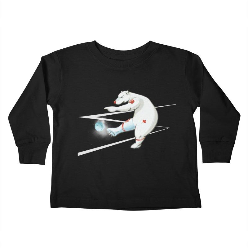 Soccer Bear Kids Toddler Longsleeve T-Shirt by CB Design