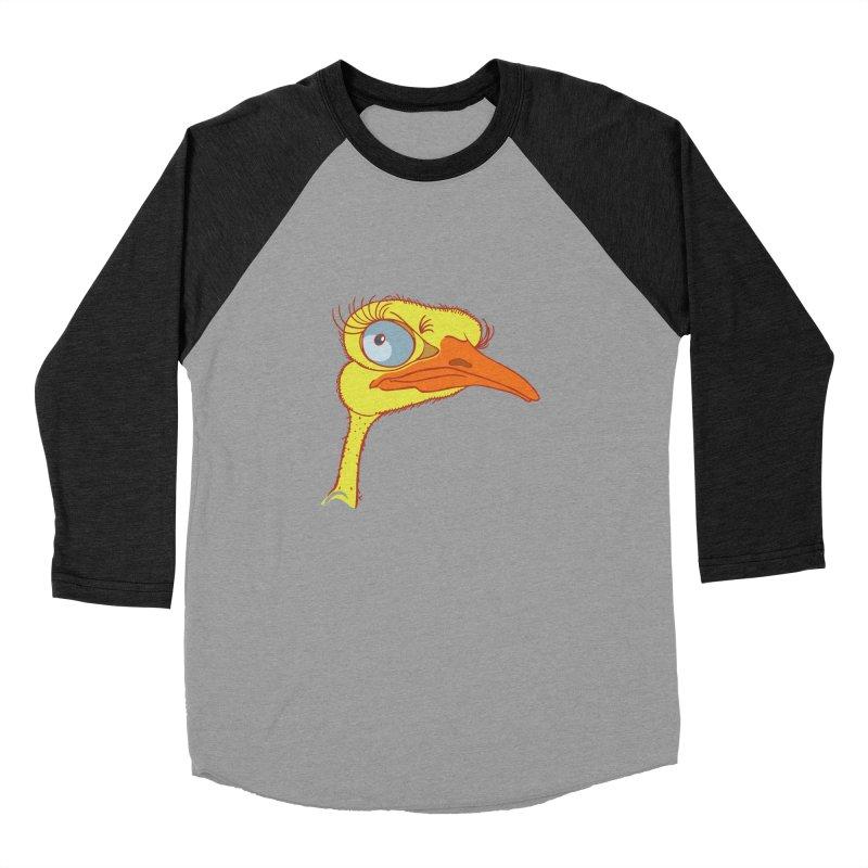 Ostrich Men's Baseball Triblend Longsleeve T-Shirt by CB Design